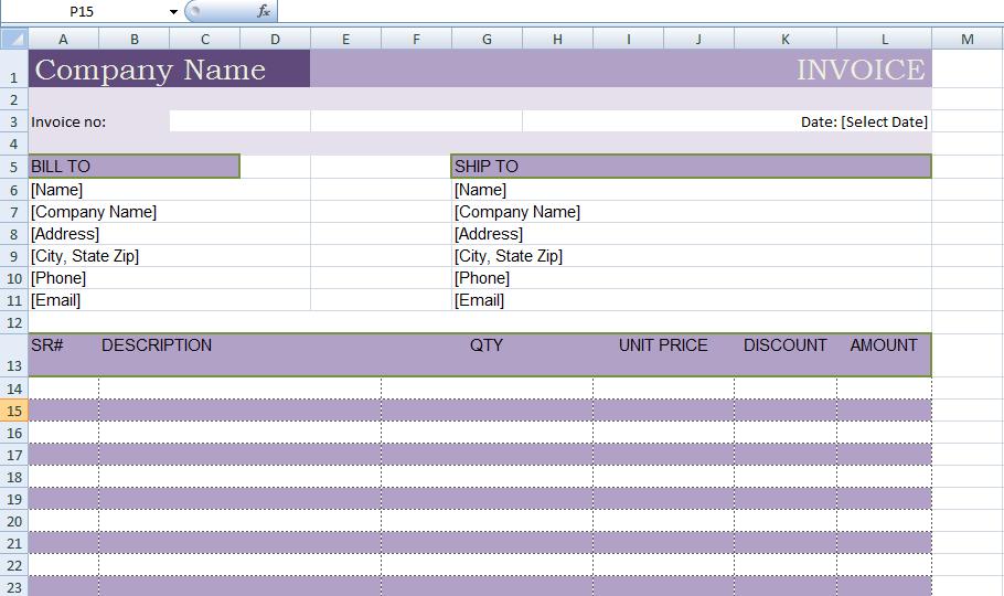 excel billing invoice template xls exceltemple