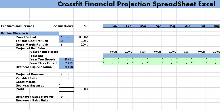 crossfit financial projection spreadsheet excel. Black Bedroom Furniture Sets. Home Design Ideas