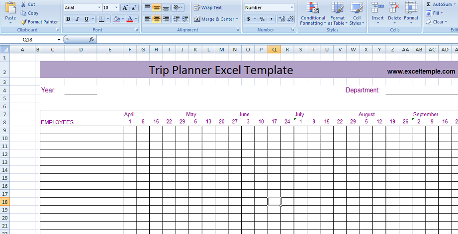Search results for travel itinerary planner template for Trip calendar planner template