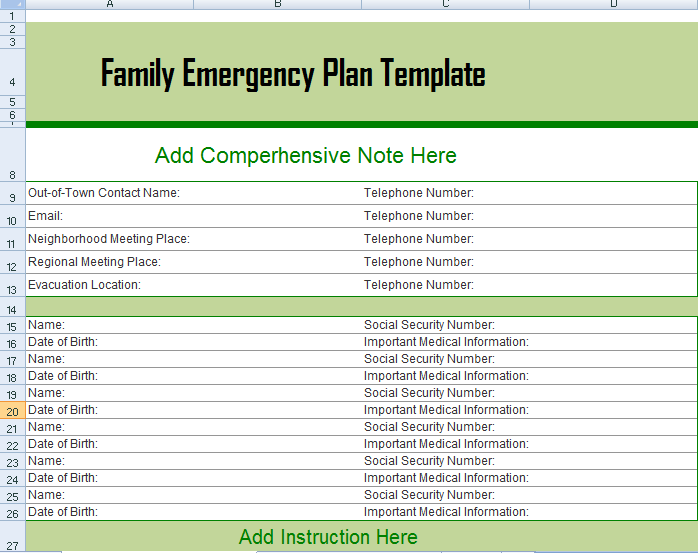 Business Continuity Plan Training Canada Family Emergency