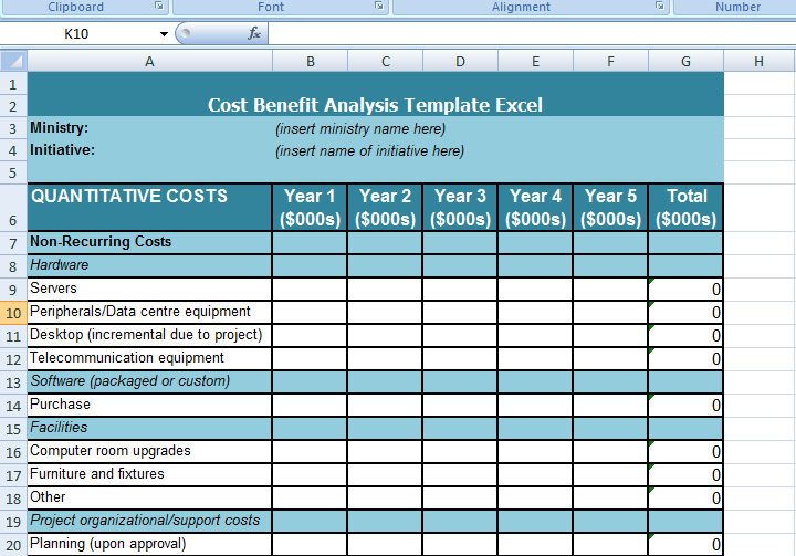 Get cost benefit analysis template excel microsoft excel for Example of cost benefit analysis template