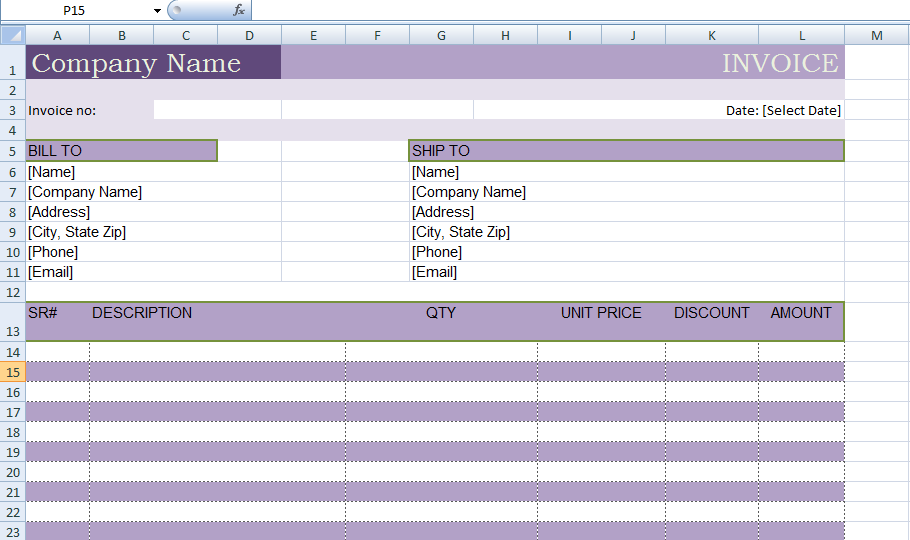 excel billing invoice template xls exceltemple