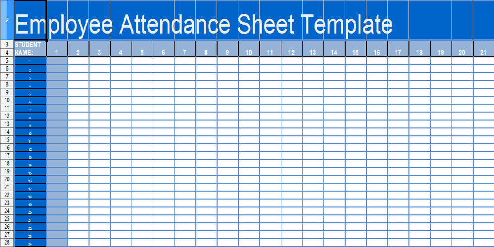 daily attendance sheet template in excel xls microsoft excel templates. Black Bedroom Furniture Sets. Home Design Ideas