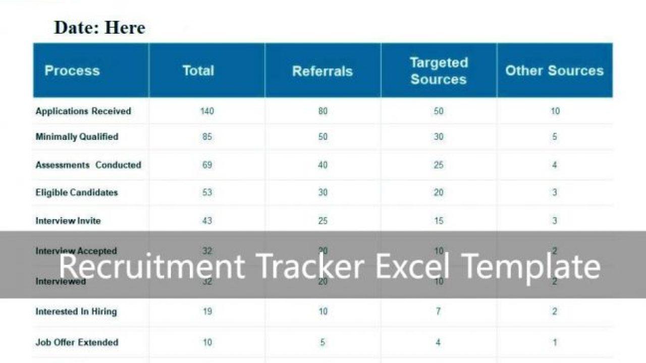 Recruitment Tracker Excel Template Xls Exceltemple