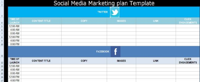 Social media marketing plan template free exceltemple for Advertising media plan template