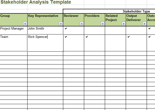 stakeholder analysis template excel microsoft excel. Black Bedroom Furniture Sets. Home Design Ideas