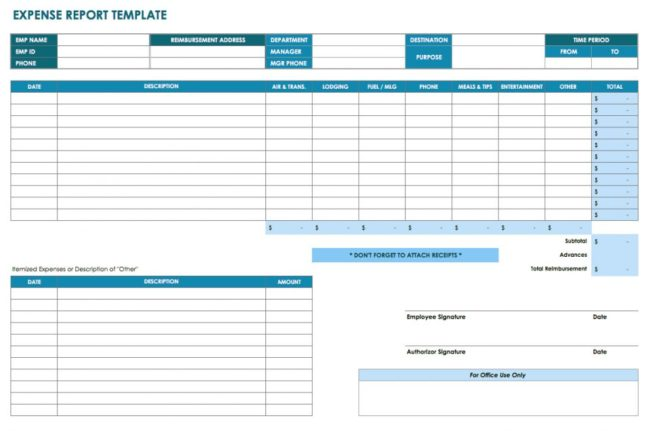 multiple business expense report template  xls