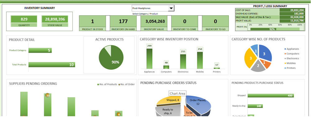 Download Supply Chain Management Template in Excel